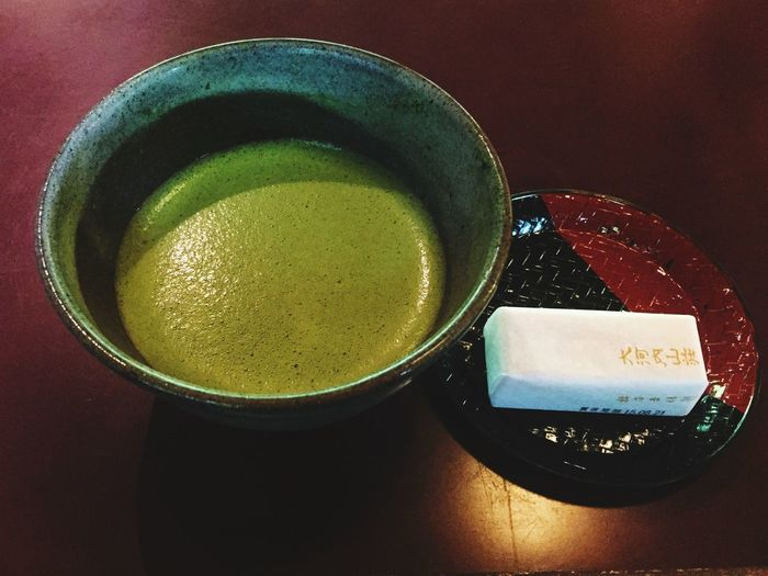Liquid Lunch Tea Time Matcha Matchagreentea Drink Healthy Breakfast Green Green Green!  Enjoying Drinks !! Food Photography IPhoneography Kyoto, Japan Countryside