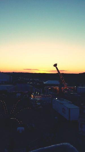 Sunset Beautiful Fairground Outside