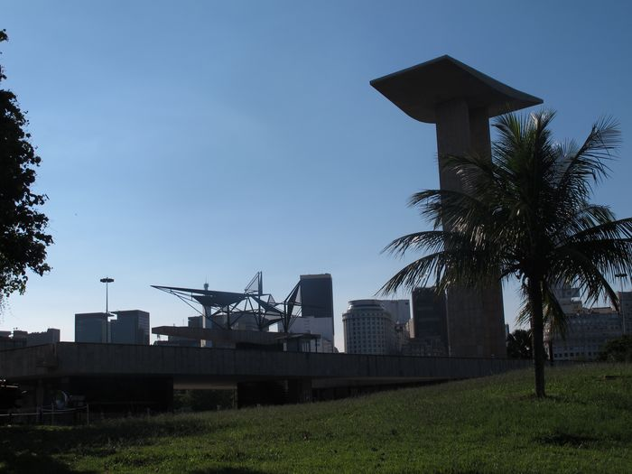 meu Rio Built Structure Architecture Plant Sky Building Exterior Tree Nature Building Growth Machinery Outdoors Clear Sky City Park Sunlight Low Angle View Grass No People Park - Man Made Space Day