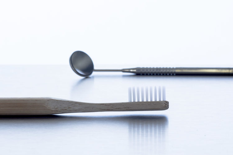 Close-up Day Dentist Dentist Tools No People Studio Shot Table White Background