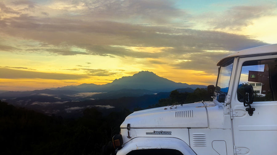 4x4 FJ40 Landcruiser  Beauty In Nature Bj40 Cloud - Sky Day Environment Journey Land Vehicle Landscape Mode Of Transportation Mountain Mountain Range Old Car Outdoors Scenics Scenics - Nature Sky Sunrise Sunset Sunset, Sillouette Transportation Travel