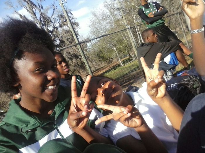 at track meet yesturday these crazy fast kids