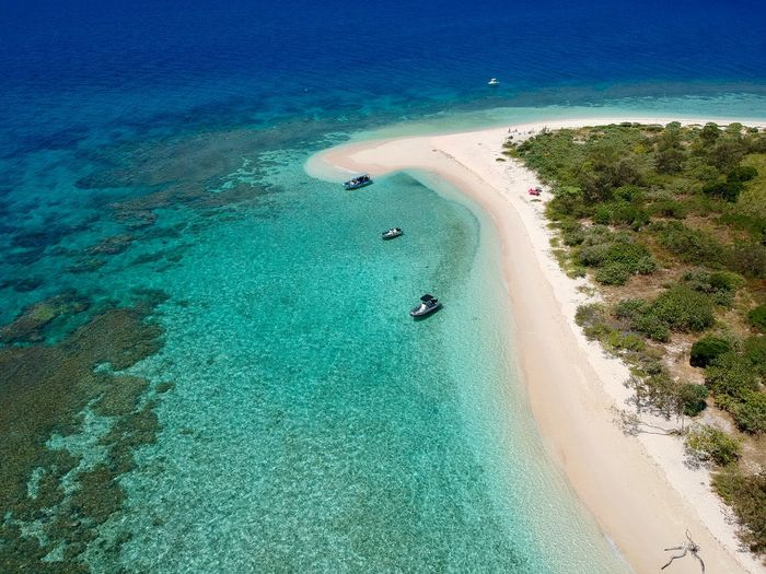 Water High Angle View Sea Land Nature Scenics - Nature Beach Beauty In Nature Turquoise Colored Travel Destinations