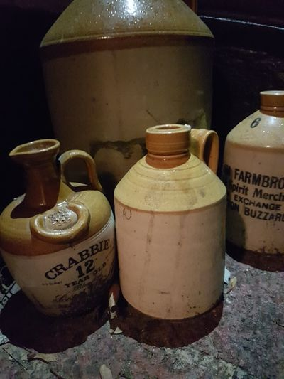No People Stoneware Bottles Antique Crabbies