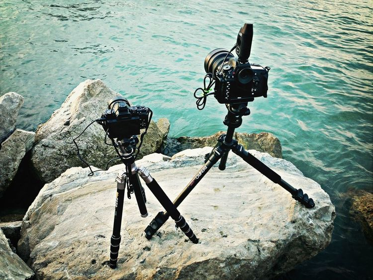 Shooting the Detroit Cotyscape from the rocks 20' off the border of Canada. Olympus Micro Four Thirds Nikond600