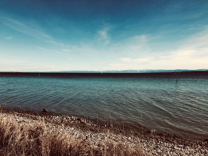 Blick auf Schweizer Alpen Sky Cloud - Sky Land Scenics - Nature Tranquility Nature Water