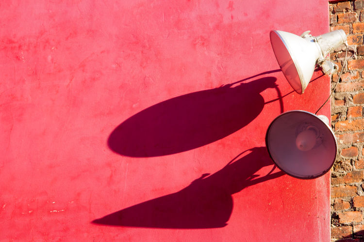 Lamp Red Security Shadow Shadow And Light Spotlight Urban Wall BYOPaper!