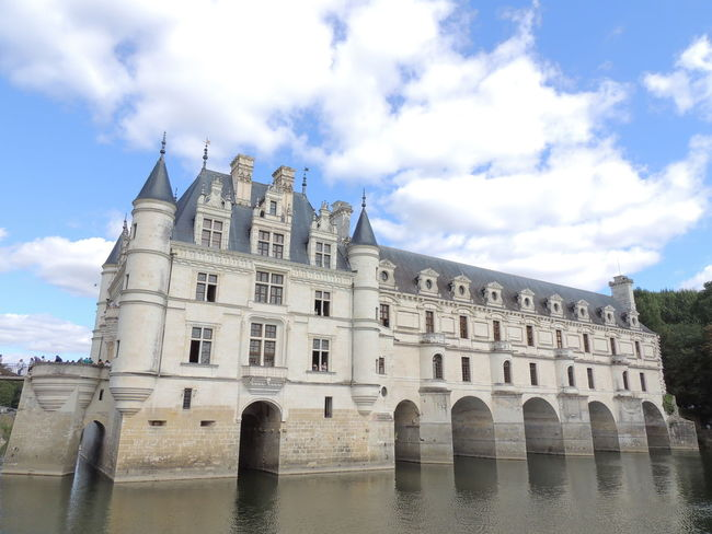 Chenonceau Chenonceaux Loire Loire Valley France Architecture Built Structure Sky Building Exterior Cloud - Sky Water History The Past Nature Waterfront Day Building Travel Destinations No People Reflection Arch Low Angle View Outdoors Lake Gothic Style