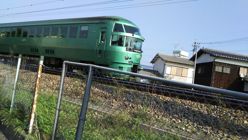 Train Limited Express Yufuin No Mori Autumn Sky
