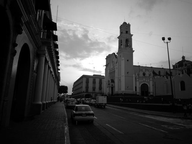 Welcome To Black Black & White Architecture Built Structure City Religion Sky Spirituality Travel Destinations Place Of Worship No People Day Outdoors Vacations Clock Xalapa City Life Silhouette Architecture Leica Black And White Huaweip9photos Huawei p9