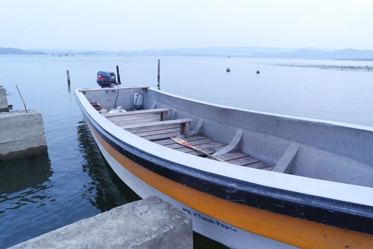 The boat docked