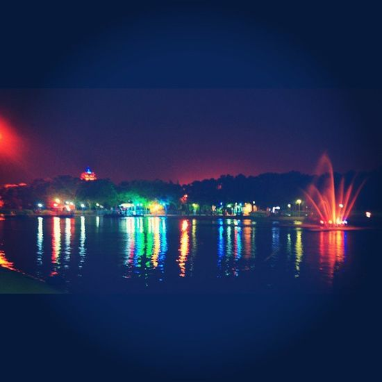 Light Night Erbil Erbilpark Samiabdulrahmanpark Samiabdulrahman Park Lack Irbil Kurdistan Hawler Green Yellow Blue Red Black