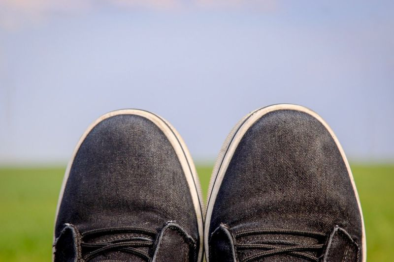 Feet up Black Shoe Low Section Human Leg Body Part Human Body Part Real People One Person Unrecognizable Person Close-up Human Foot Sky Leisure Activity Clear Sky Lifestyles Personal Perspective Focus On Foreground Day Leather Nature Copy Space
