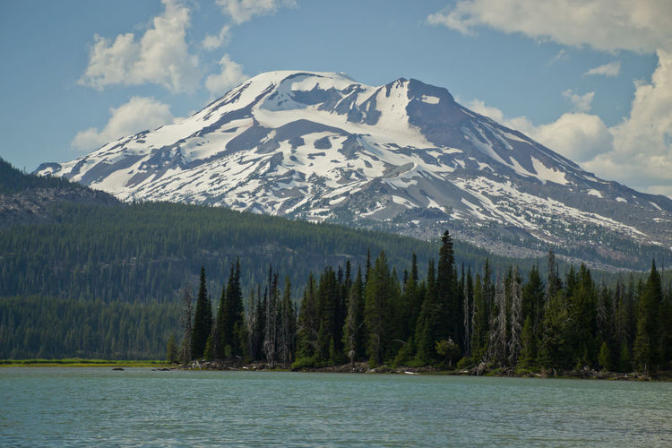South Sister Blue Water Cascade Cascade Mountains Cascades Douglas Fir Forest Forest Photography High Lakes Lake Landscape Landscape_Collection Landscape_photography Landscapes Mountain Peak No People Pacific Northwest  Pacificnorthwest Pine Tree Sky Snow Snowcapped Mountain South Sister Sparks Lake Springtime Summertime