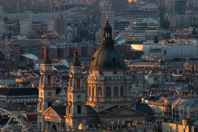 Aerial view of buildings in budapest