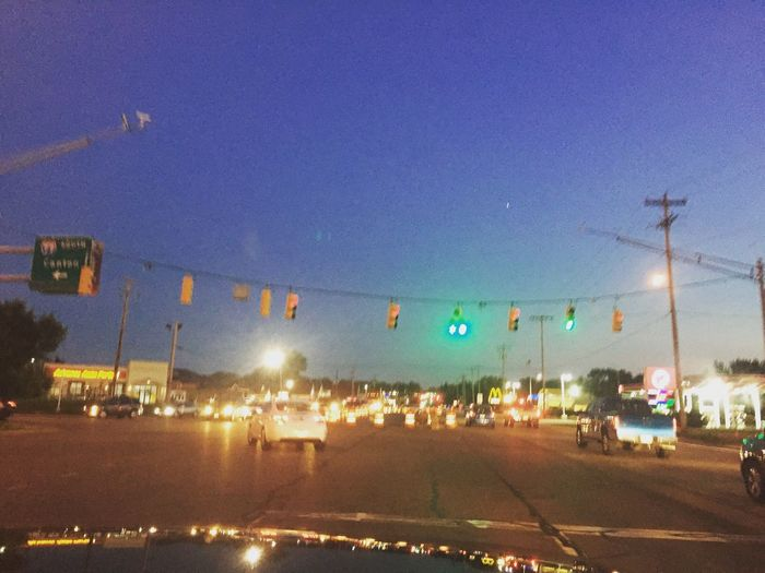 Street Road Car Blurred Motion Clear Sky