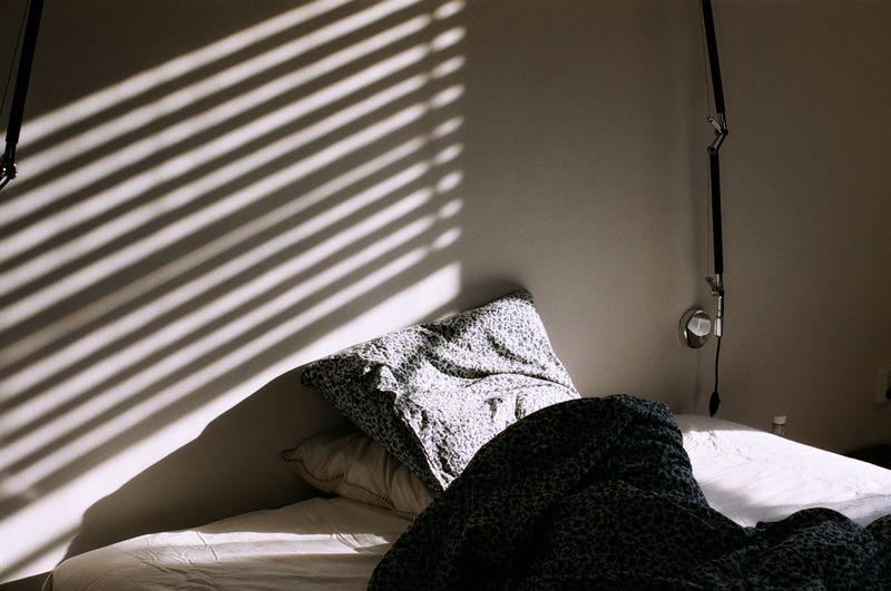 Sunlight falling in bedroom