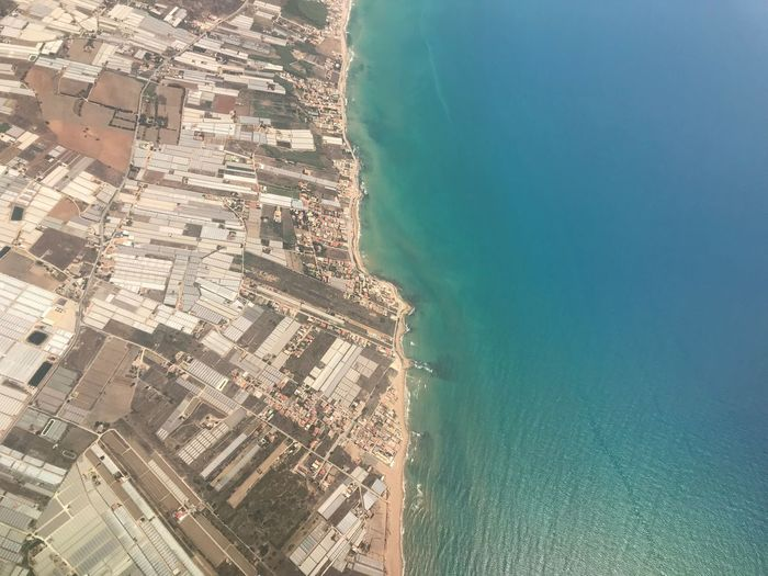 Aerial View Building Exterior Water Sea Architecture Built Structure City High Angle View Cityscape Nature Travel Beach