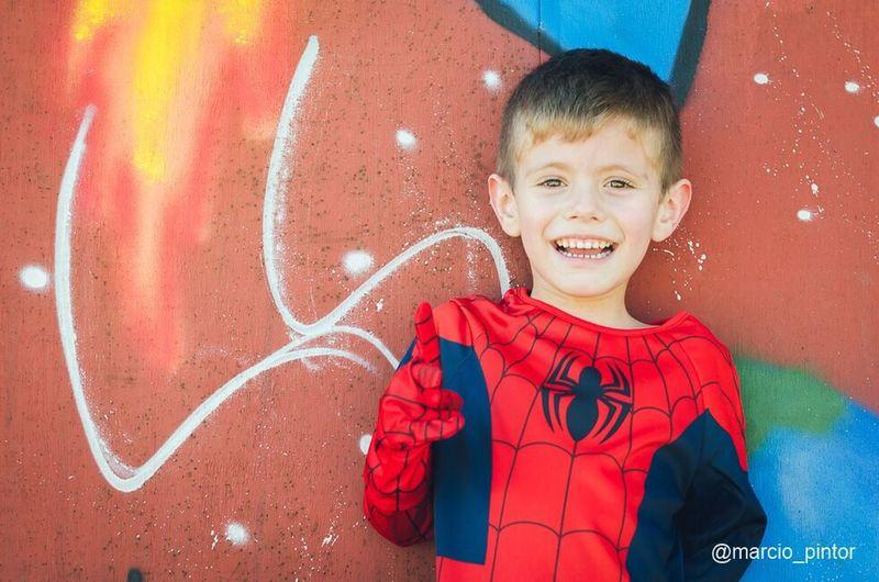 Matheus Spiderman super-herói