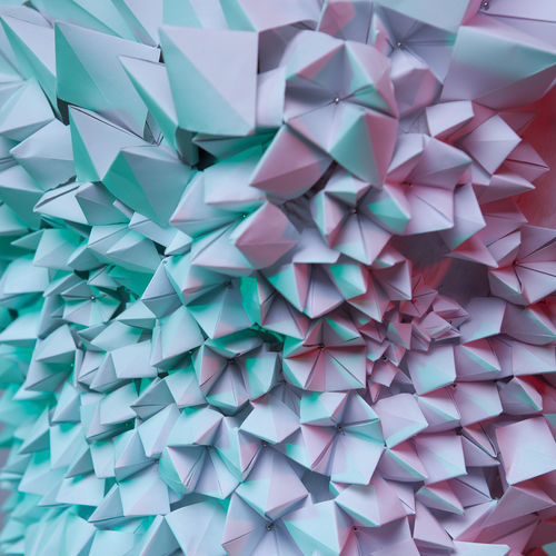 net, network, work, communication, connection, dynamism, abstract, background, abstract background, mobile, contrast, close-up, lines, curves, red, pink, green, light green, complementary, contrasting, triangle, paper, minimalism, pyramid, pyramids Abstract Backgrounds Abstract Minimalism Triangle Shape Triangle Pyramid Shape Pyramid Fashion Blue Turquoise Pink Pink Color Green Green Color Design High Angle View Craft Close-up Still Life Indoors  No People Backgrounds Multi Colored Pattern Full Frame Large Group Of Objects Paper Creativity Art And Craft Indoors  Abundance Origami Repetition Choice White Color