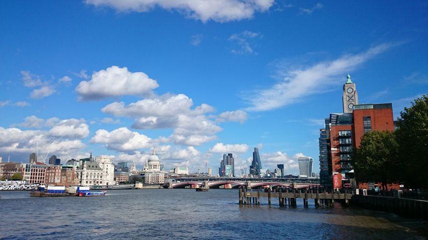 Sky And Clouds City Skyline crisp fall day