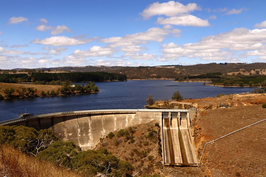 Myponga Dam on the Fleurieu Peninsula, South Australia Australia Myponga Travel Travel Photography Architecture Beauty In Nature Bridge - Man Made Structure Built Structure Cloud - Sky Dam Day Lake Nature No People Outdoors Reservoir Reservoir Dam Rural Landscape Scenics Sky Travel Destination Tree Water Water Conservation