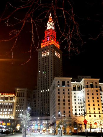 Cleveland, OH Cleveland Night Lights Night Photography Public Square Wood Art Tower City Westin,