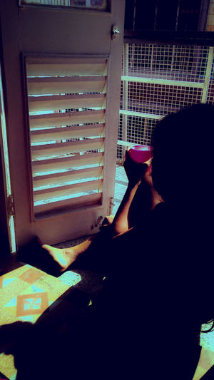 Morning Light Mobile Photography Potrait Of A Friend Woman Portrait Interior Views Showcase March People Photography Relaxed Moments Having Tea Balcony View