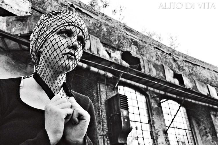 M Model Girl Editorial  Fashion Photography Ruins Gaze Urban Decay Beauty Of Decay Shades Of Grey Filmphotography