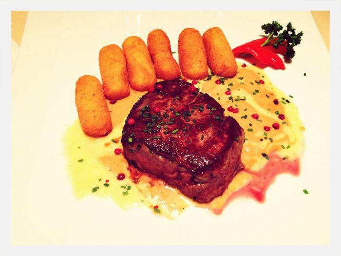 Yummy Birthday Dinner Steak
