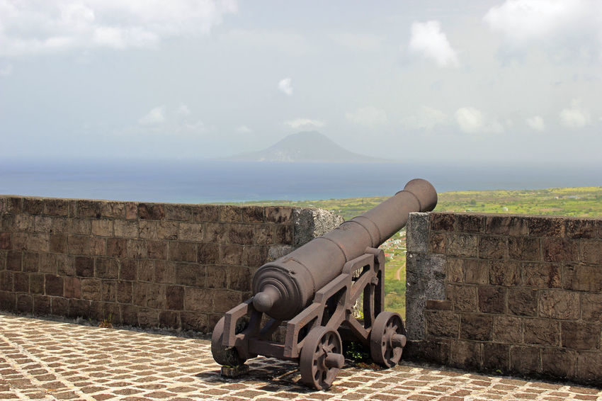 Cannons Cannons And Forts Caribbean Island Caribbean Sea Forts Old Buildings St. Kitts Structures Travel Destinations Vacations