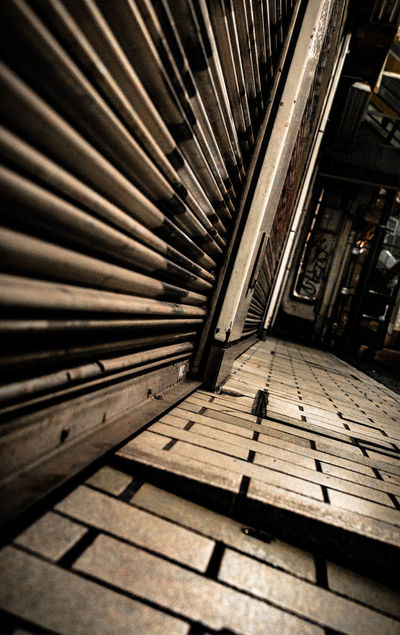 Low Angle View Nightphotography Rust Walking Around Closed Focus On Foreground Metal No People Pattern Shadow
