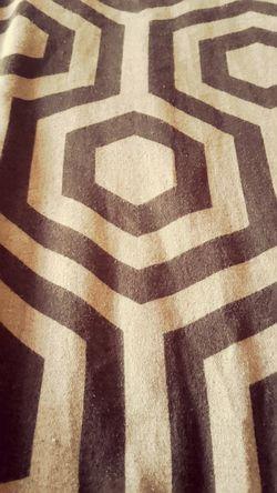 Pattern On My Bed Hexagonal Fabric Fabric Detail Bed Linen