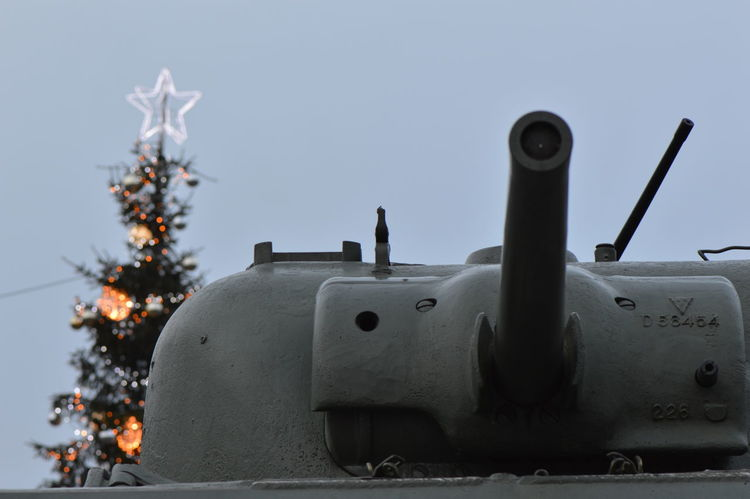 24 December 2016 Army Celebration Christmas Day Eeyem Photography EyeEm Best Shots Freedom Freedom Of Expression Illumination No People Outdoors Popular Photos Reality Tank Tank Top Tree War
