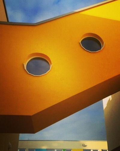 Architecture Building Exterior Built Structure Colors And Patterns Geometric Shape No People Orange Color Vibrant Color Window