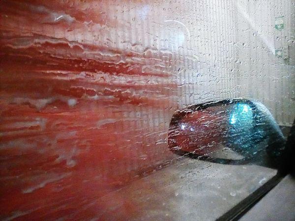 Wet Drop Window Water Car Wash Day