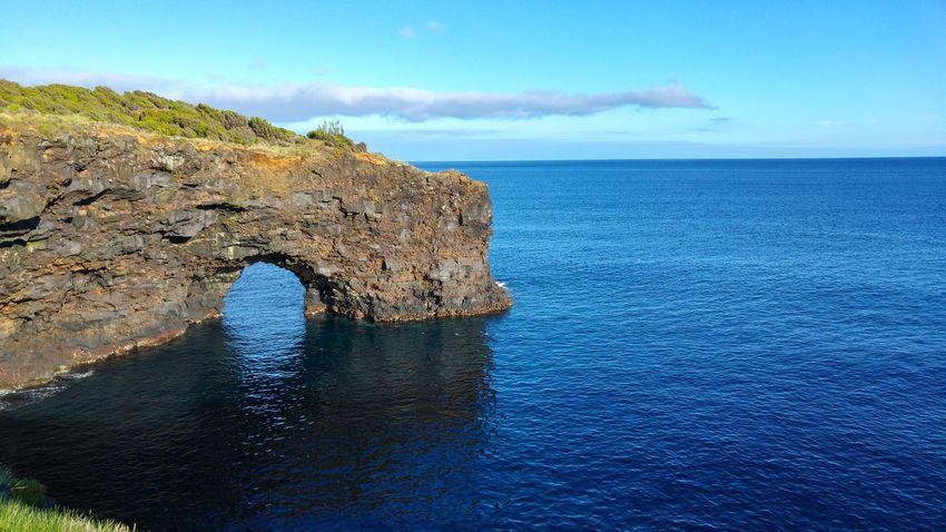 Faial Island Atlantic Ocean Rocks And Water Rocks Formation