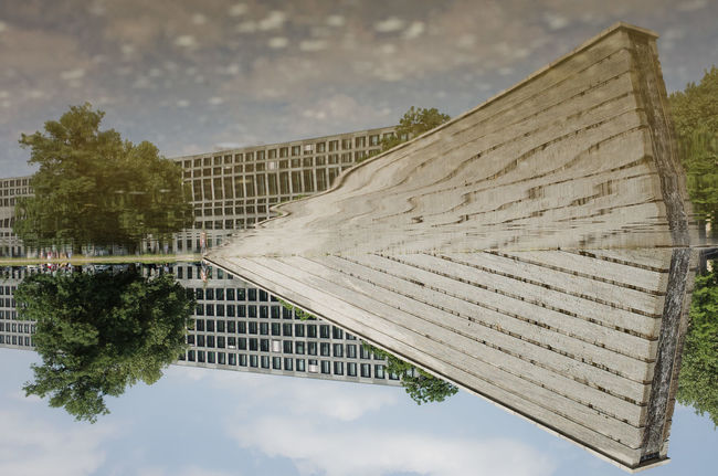 Architecture Built Structure Cloud - Sky Flip Monument Outdoors Plant Reflection Reflection_collection Sky Tree Water
