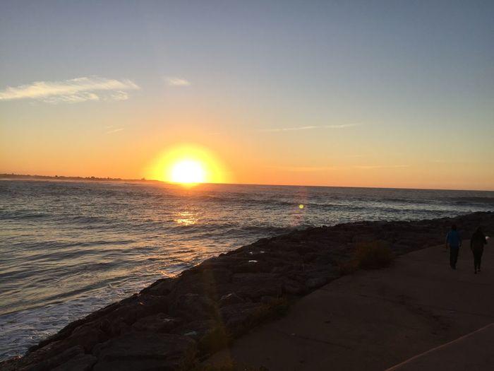 Sunset Sunset #sun #clouds #skylovers #sky #nature #beautifulinnature #naturalbeauty #photography #landscape Sunset_collection Sunsets Nature_collection Life Is A Beach Enjoying The Sun EyeEm Nature Lover Quality Time Light