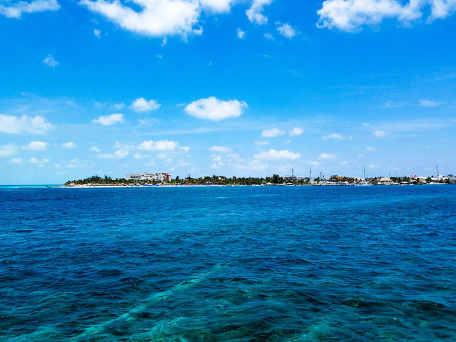Blue Nature No People Outdoors Sky Day Cloud - Sky Horizon Over Water Beauty In Nature Water Scenics Tropical Climate Island Idyllic Travel Destinations Travel Clouds Vacation May 2017 Spring Springtime Cancun MexicoTrapical Climate Isla Mujeres Mexico The Week On EyeEm