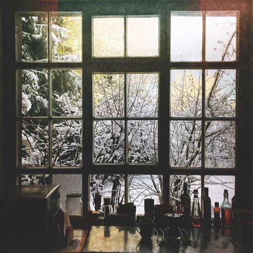 Morning view Nature Coffee Winter Window Indoors  Day Built Structure Architecture No People Tree