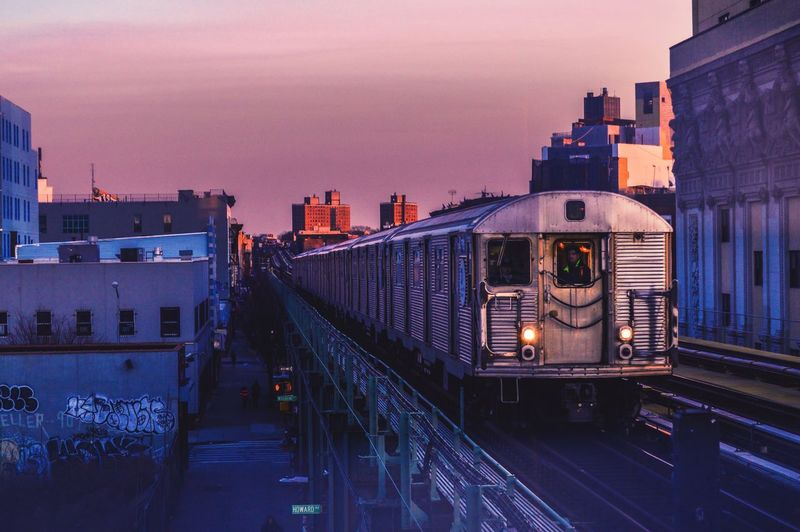 Twilight Js Twilight Train Station Train Purple Blue City Life Urban EyeEm Bestsellers HOODLIFE Eyemphotography NYC Photography Newyorkcity Dark And Light Nightshot Glow Sunset Subway Brooklyn New York Bedstuy Color Your Life Colors Clouds And Sky From Where I Stand Building