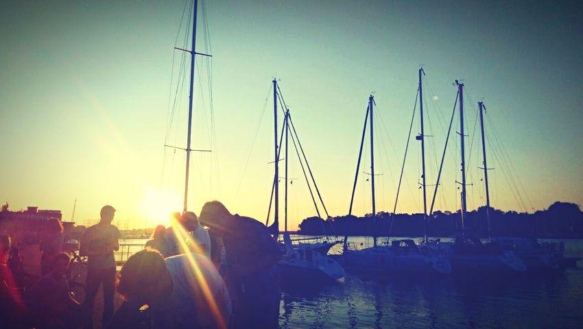 Sunset Stadthafen Rostock Rostock
