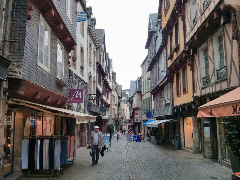 City center Morlaix Bretagne