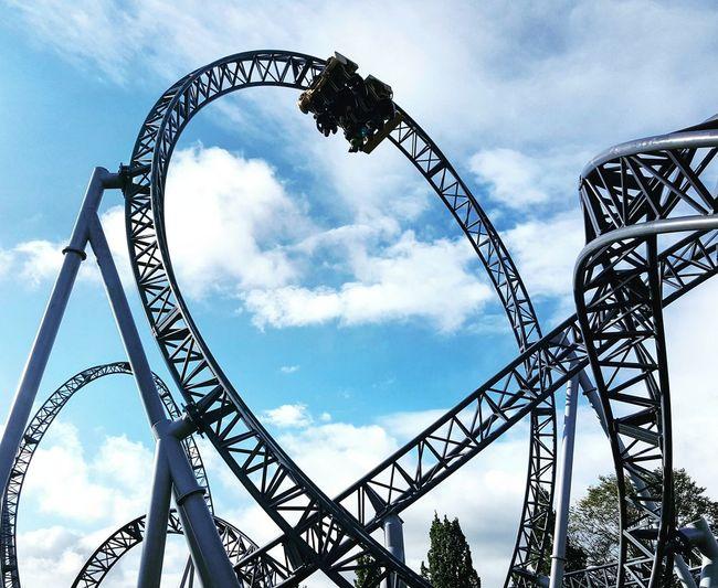 Rollercoaster Fun Sky Amusement Park Outdoors Tripsdrill Achterbahn Freizeitpark EyeEmNewHere