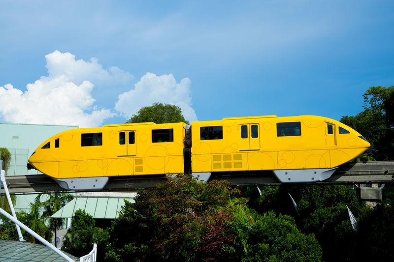 Sentosa Island Monorail Singapore City Sentosa Island Monorail  Public Transportation Rail Transportation