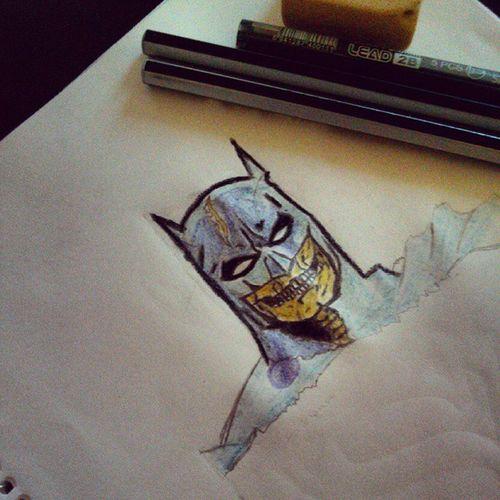 Inspirado en @mascaradelatex Draw SkullBatman
