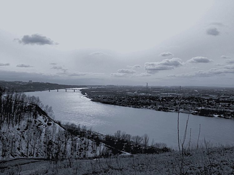 Nizhniy Novgorod Black&white EyeEm Best Shots ока Nature Река Волга Russia Nature_collection Sea And Sky