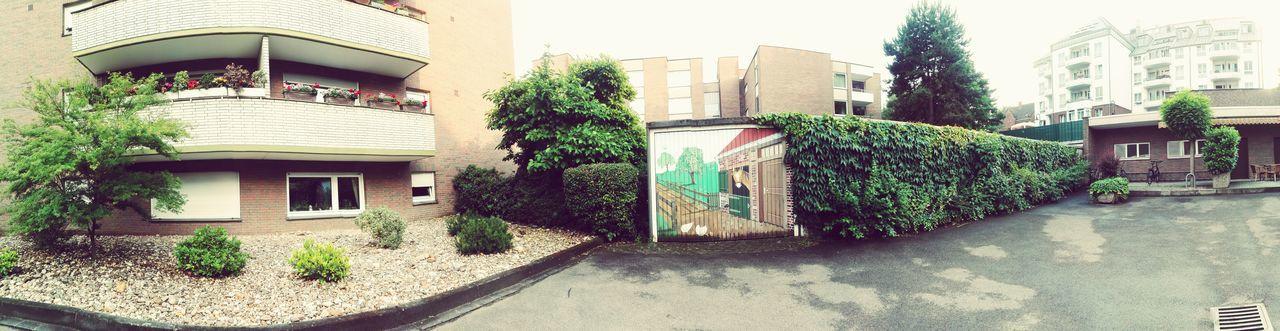 Garage, Hinterhof, Zeichnung, bemalt, Pferdestall, Architecture Building Exterior Day No People Outdoors Fake