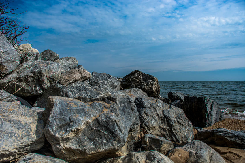 Beauty In Nature Cufotos Day Horizon Over Water Maryland Nature Nikon Nikonphotography No People Outdoors Rock - Object Scenics Sea Sky Tranquility Water
